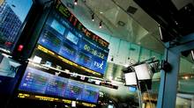 The Toronto Stock Exchange Broadcast Centre in Toronto. (MARK BLINCH/Mark Blinch/Reuters)