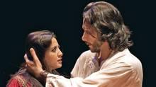Houda Echouafni, left, and Saad Al Ghefari in a scene from One Thousand and One Nights. (Cylla von Tiedemann)