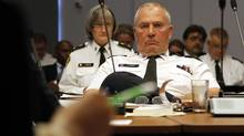 Toronto Police Chief Bill Blair attends the Toronto Police Services meeting on Thursday, Sept. 12, 2013. (FERNANDO MORALES/THE GLOBE AND MAIL)