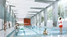 The proposed Pan Am YMCA pool hall. (MacLennan Jaunkalns Miller Architects)
