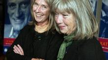Kate, left, and Anna McGarrigle speak to reporters in Montreal Sept. 21, 2004. (RYAN REMIORZ/CP)