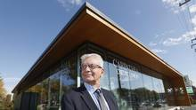 Carpathia Credit Union, led by CEO Walter Dlugosh, located its new 3,200-square-foot branch in Winnipeg on land once occupied by a Shell station. (John Woods For The Globe And Mail)