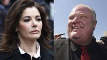 Nigella Lawson, left, and Rob Ford: Both have admitted to using cocaine, but only one gets to enter the U.S.