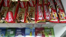 Nestle chocolate bars are seen in a store in Beijing Friday, April 20, 2007. (Greg Baker/AP/Greg Baker/AP)