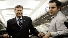 Ryan Sparrow and Prime Minister Stephen Harper