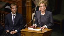 Kathleen Wynne is sworn in as the 25th premier of Ontario at Queen's Park in Toronto on Tuesday, June 24, 2014. THE CANADIAN PRESS/Nathan Denette (Nathan Denette/THE CANADIAN PRESS)