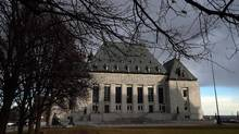 The Supreme Court of Canada building is shown in Ottawa on April 14, 2015. (Sean Kilpatrick/THE CANADIAN PRESS)
