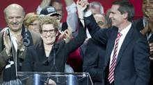 Kathleen Wynne became the next leader of the provincial Liberal Party and the next Premier of Ontario after winning the leadership vote on the third ballot during the Liberal Convention in Toronto on Jan. 26, 2013. (Peter Power/The Globe and Mail)