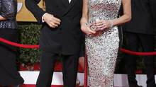 Actor Tom Hanks and his wife Rita Wilson (Lucy Nicholson/Reuters)