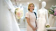 Hudson's Bay president Liz Rodbell surveys the wedding dress selection in the Kleinfeld bridal department at the retailer's Toronto flagship. (Kevin Van Paassen for The Globe and Mail)