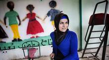 Syrian refugee Omayma Al Kasem, 26, at the Jordanian Society for Human Development where she volunteers as a mental health aid worker in Jerash, Jordan Dec. 15, 2015. Ms. Al Kasem was a fourth-year law student before fleeing to Jordan. She rejected going to Canada because she doesn't want to separate from family in Syria and Jordan, and because she wants to be a driving force in rebuilding Syria when the war is over. (Annie Sakkab for The Globe and Mail)