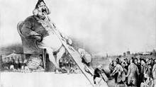 Backlash: This 1831 depiction of the French king as Gargantua – a giant who steals from the poor to enrich the upper classes – landed famed caricaturist Honoré Daumier in jail. (Roger-Viollet)