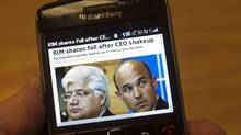 Mike Lazaridis and Jim Balsillie are no longer co-CEOs at Research In Motion Ltd. as the company tries to turn around its fortunes. (Ryan Remiorz/RYAN REMIORZ/THE CANADIAN PRESS)