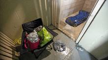 Evidence of a squatter in a basement storage locker at 250 Davenport in Toronto on Jan. 16, 2012. Some residents of the building have complained numerous times regarding the poor living conditions and lack of security (Pawel Dwulit for The Globe and Mail/Pawel Dwulit for The Globe and Mail)