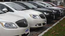Cars at a dealership in Toronto. (Fred Lum/The Globe and Mail)