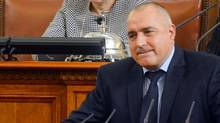 Bulgarian Prime Minister Boiko Borisov speaks in the Parliament in Sofia February 20, 2013. (Julia Lazarova/Reuters)