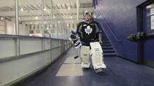 Goaltender Jonathan Bernier has a mere 62 NHL games to his credit with a 29-20-6 record, a .912 save percentage and 2.36 goals-against average. (FRED LUM/THE GLOBE AND MAIL)