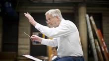 Charles Barber, Conductor and City Opera Vancouver artistic director, conducts a workshop in preparation for the world premier of Margaret Atwood's opera Pauline in Vancouver. (Rafal Gerszak For The Globe and Mail)