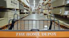 A shopping cart is seen in a Home Depot location in Niles, Ill., May 19, 2014. (Jim Young/Reuters)