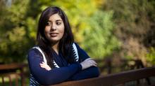 Queen's University economics major Hana Dhanani is the Canadian delegate to the G(irls)20 Summit in Paris. (Tim Fraser For The Globe and Mail)