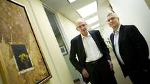 Norman Schutz, left, and Michael Erdle are launching Practical Resolutions Inc., a specialized mediation and arbitration practice for IT disputes. (Kevin Van Paassen/The Globe and Mail/Kevin Van Paassen/The Globe and Mail)