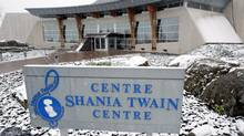 The Shania Twain centre, which was officially opened by Canadian-born singer Shania Twain during a ceremony in her home town of Timmins on Tue., Nov. 2, 2004. The centre had been open since 2001, however Twain was unable to attend the opening earlier due to a pregnancy and touring commitments. (J.P. Moczulski/The Canadian Press)