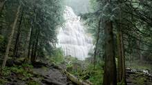 Kinder Morgan says its surveys of B.C. parks, including Bridal Veil Falls Provincial Park, were primarily for their Trans Mountain Pipeline expansion project. (Richard Wong/Alamy)