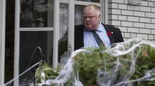 Toronto Mayor Rob Ford leaves his house in Etobicoke on Nov. 1, 2013. Ford spent the morning huddled with his family and closest advisers, one day after it was revealed that Toronto police are in possession of the video that allegedly caught him smoking crack cocaine. (Deborah Baic/The Globe and Mail)