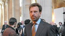 Warner Music Group Corporation Chief Executive Officer Edgar Bronfman Jr arrives at a Paris courthouse on June 2, 2010 in Paris, for the trial of seven former Vivendi SA executives. Universal ex-Chief Executive Officer Jean-Marie Messier faces charges of market manipulation, distributing false information and misuse of corporate funds, while Bronfman, who joined Vivendi as vice chairman when it acquired Seagram Co. in 2000, is accused of insider trading. The trial runs until June 25. (BERTRAND LANGLOIS/Bertrand Langlois/AFP/Getty Images)