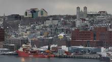The skyline of St. John's. The Safe Harbour Outreach Program says it is taking the unusual step of issuing a public alert to sex workers in St. John's because of the severity of the alleged sexual assaults and because they have received several reports. (PAUL DALY/THE GLOBE AND MAIL)