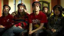 Queen's University students take part in an event called Queen's Loves U following the deaths of six students in recent months. (Kevin Van Paassen/Kevin Van Paassen/The Globe and Mail)