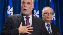 Quebec Liberal Leader Philippe Couillard speaks at the National Assembly on Sept. 18, 2013. (JACQUES BOISSINOT/THE CANADIAN PRESS)