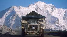 A truck hauls a load at Teck Resources Coal Mountain operation near Sparwood, B.C. (The Canadian Press)