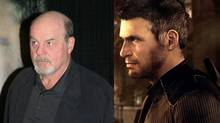 Michael Ironside, left, next to the character he plays, Splinter Cell super spy Sam Fisher. (Ubisoft)
