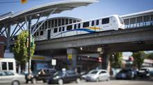 Taking cleaner modes of transit, such as the Skytrain in Vancouver, are just one way people can push back against climate-change agnosticism in the world. (John Lehmann/The Globe and Mail)