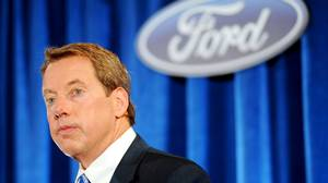 Ford Executive Chairman Bill Ford at a news conference after the Ford Annual Shareholders Meeting on May 12, 2011.