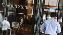 A man walks into the Morgan Stanley offices in New York. Morgan Stanley was the lead underwriter for Facebook Inc.'s $16-billion (U.S.) initial public offering. (Shannon Stapleton/Reuters)