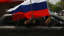 Soccer fans put their passions and national pride on display in the streets of Toronto. , Jun 26 2008 A group of russian soccer fans watch the semifinal of the Eurocop where Russia lost 3-0 against Spain at Heros Restaurant on Steeles Ave., Toronto. Photo by: Fernando Morales/The Globe and Mail (Fernando Morales/The Globe and Mail)