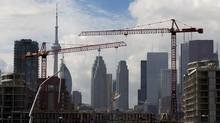 File photo of condo construction work in downtown Toronto. (Peter Power/The Globe and Mail)