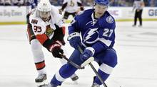 Tampa Bay Lightning's Jonathan Drouin, the third pick of the 2013 NHL Entry Draft, is unhappy with his career trajectory in Tampa, where it has stalled on takeoff. (Chris O'Meara/THE ASSOCIATED PRESS)
