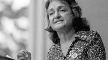 "FILE PHOTO: Betty Friedan speaks in New York's Central Park in this Aug. 26, 1971 file photo, after some 5,000 marchers paraded up Fifth Avenue in the women's march for equality Friedan, whose manifesto ""The Feminine Mystique"" became a best seller in the 1960s and laid the groundwork for the modern feminist movement. (File photo/AP Photo)"