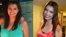 Lindsay Bonnett before and after her 34-pound weight loss.