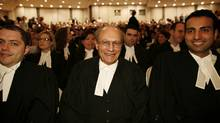 (centre) Joseph Camille Gerald Van Buskirk, 82 years old, awaits to become a lawyer today as part of The Law Society of Upper Canada Call to the Bar Ceremony. A handful of lawyers are calling for an end to the body's archaic name. Instead, they say, it should be known as the Ontario Law Society. (Ryan Carter/The Globe and Mail)