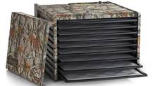 Excalibur has re-launched their dryers in nine funky and elegant finishes, from hot pink to hammered copper. Pictured here is the camo model.
