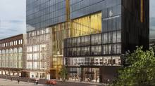 A rendering of the Four Seasons Hotel and Private Residences Montreal on de la Montagne Street. (Hand-out)