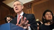 U.S. Senate Majority Leader Sen. Harry Reid (D-NV) speaks during a news conference July 30, 2011 on Capitol Hill in Washington, D.C. (Alex Wong/Getty Images)