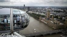 A view of London from the London Eye. The city recently set a new real estate record with the sale of an unfurnished penthouse for $237-million. (Emilio Morenatti/AP)