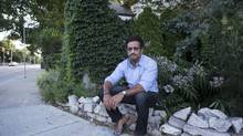 Armand Rahman says that people have been stealing plants from his garden in Riverdale throughout the summer. (Matthew Sherwood for The Globe and Mail)