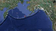 The United States Geological Survey recorded a 7.1 magnitude quake with the epicentre located near the Fox Islands section of Alaska's Pacific Aleutian island chain (Google Maps)