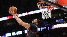 Anthony Davis dunks the ball during the NBA All-Star Game on Feb. 19, 2017. (Ronald Martinez/Getty Images)